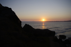 Sunset viewed from the main rock