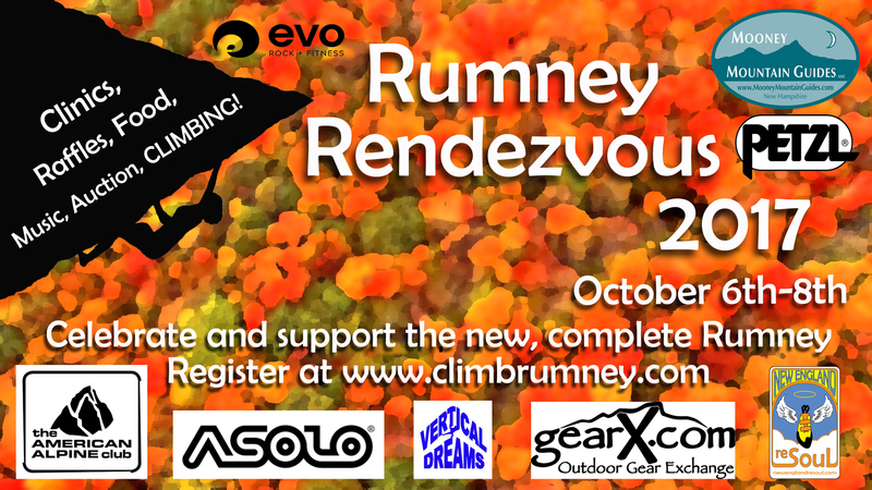 The Rumney Rendezvous is coming together and is coming up soon! This new poster shows our committed sponsors. The only thing that's missing now is YOU! Preregister today to save your spot!