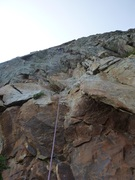 Rock Climbing Photo: Having fun on Pitch 1 of Eleventh Hour