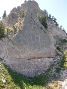 Rock Climbing Photo: Looking at the start of Needles Nirvana