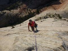 Rock Climbing Photo: My wife having fun on Led by Sheep