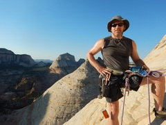Rock Climbing Photo: Me loving the route!! Super fun.