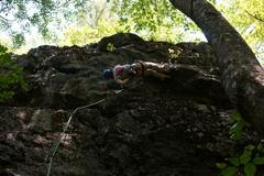 Dovi getting a little sideways on this climb