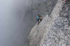 Rock Climbing Photo: on a foggy day