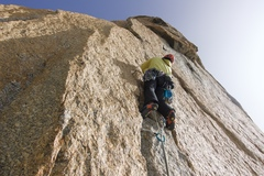 "Rock Climbing Photo: the last crack of ""la voie des Suisses"" ..."