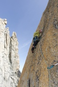 "Rock Climbing Photo: Slab pitch of ""O sole mio"""