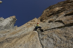 Rock Climbing Photo: The first proper pitch of the route