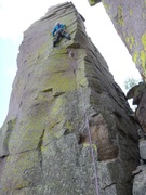 Rock Climbing Photo: Having fun on Assegai