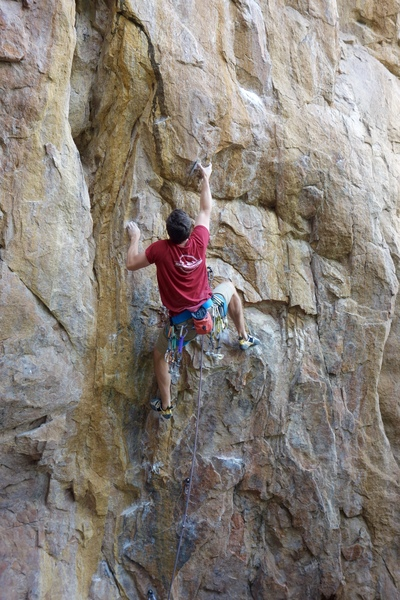 Mid-crux, at the start of New Beginnings.