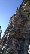 Rock Climbing Photo: Nick leading Red Devil