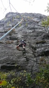 Rock Climbing Photo: Lauren on pitch 1. Not a great photo but useful be...