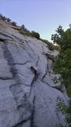 "Rock Climbing Photo: Matt pulling the ""roof"""