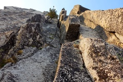 Rock Climbing Photo: Somewhere near the end of Pitch 5 or start of Pitc...