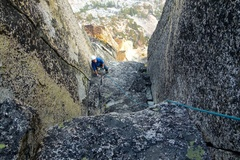 Rock Climbing Photo: Nearing the top of Pitch 6.