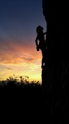 Rock Climbing Photo: Matt playing TR hero with a nice view at Trespass ...