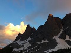Rock Climbing Photo: A golden cloud above Warbonnet. This place is amaz...