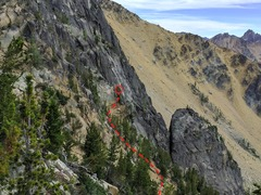 Rock Climbing Photo: The start of the route is located at 48.553059,-12...