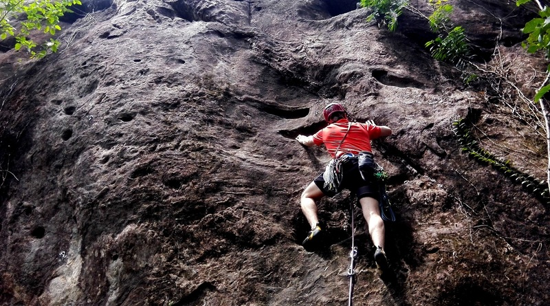 this photo is taken at climblanka,sri lanka's first and only sport climbing site,situated close to colombo.