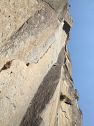 Rock Climbing Photo: P2. Don't move right on this pitch, go left to the...