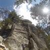 Lunch Rock 5.7. Fun little climb.