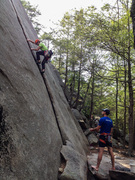 Rock Climbing Photo: Ben leading Zipper