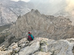 Sitting on the ridge, soaking up the granite for days..