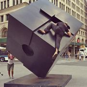 Rock Climbing Photo: V1 problem, V2 if someone spins the cube while you...