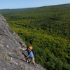 Brian on the first pitch of The Stritch Route.