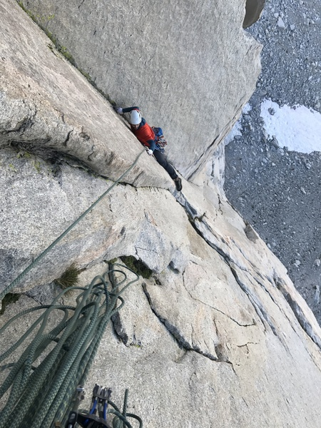 The step across move at the end of the undercling pitch. Tougher than I thought it was going to be!