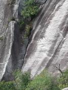 Rock Climbing Photo: The top part of P1