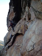 Rock Climbing Photo: Paul Yannopoulis on the tenuous knee scummy entry ...
