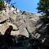Kids playing on Rainshadow Crack, the 7 Mile Classic