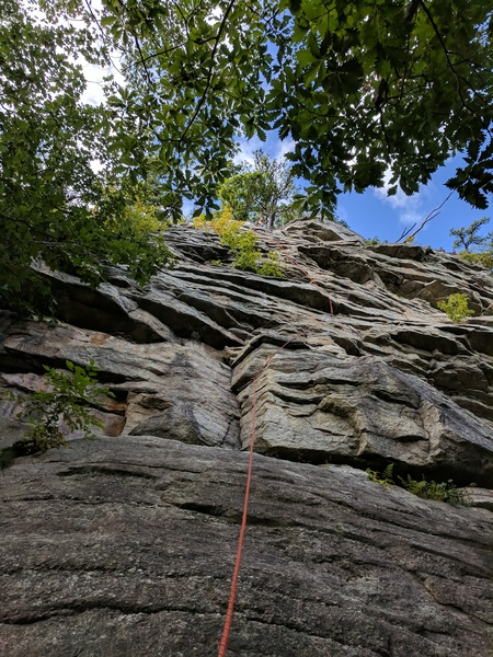 At the belay ledge after No Picnic.