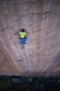 Rock Climbing Photo: Josh Janes, run out as f***, makes use of the cool...