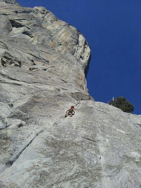 Kai Seth Robertson, Age 5, 2012, following Jonny up Pine Line.