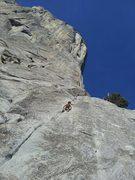 Rock Climbing Photo: Kai Seth Robertson, Age 5, 2012, following Jonny u...