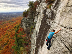 Rock Climbing Photo: Chad Shay following up arrow in the fall 2016