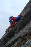 Rock Climbing Photo: Spenser on Lead!