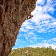 Rock Climbing Photo: Classic NM blue sky and clouds serve up a great ba...