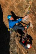 Rock Climbing Photo: Boulder Problem crux pitch 4