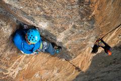 Rock Climbing Photo: Pitch 4 the Beak Stem!