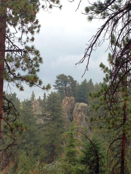 Rock Climbing Photo: Some of the crags visible from the road, Green Val...