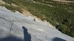 Rock Climbing Photo: First pitch = Slabilicious!
