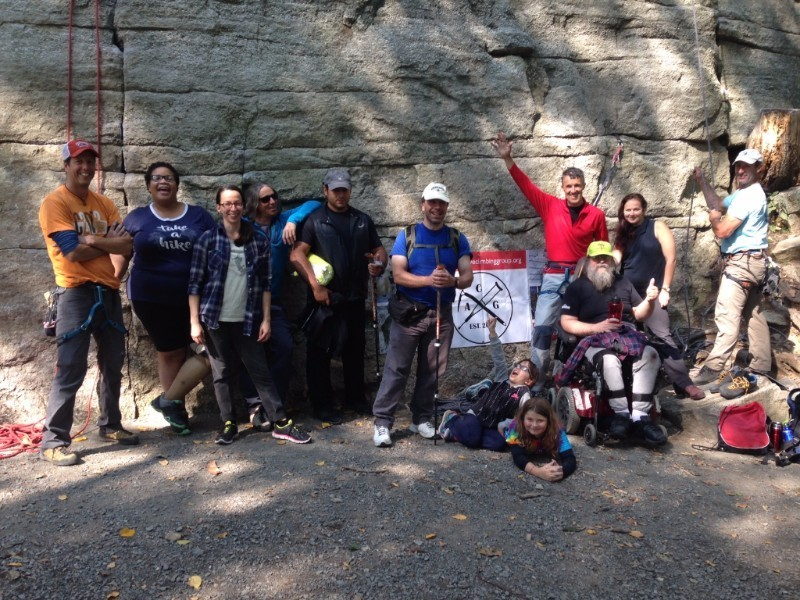 The ACG gang of climbers and volunteers on the trip