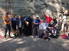 Rock Climbing Photo: The ACG gang of climbers and volunteers on the tri...
