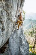 Rock Climbing Photo: Nic pulling onto the Heart.