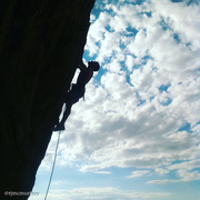 Rock Climbing Photo: A great little route with easy approach and cool h...