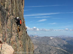 Rock Climbing Photo: Finishing up on pitch 8 traverse.