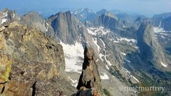 Rock Climbing Photo: Nearing the end of the traverse and looking back a...
