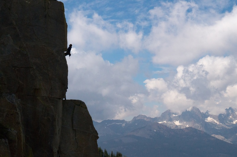 Zak Mills climbing A Good Ribbing .11b